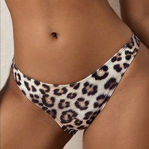 SHEIN leopard bikini bottom